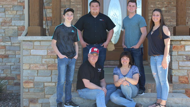 The Elbe family includes Chris and Tracey and their children Ryan, Matthew, Kimberly and Kyle. Expansion allowed the Elbes, hosts of the Washington County Dairy Breakfast June 10, to build modern efficient facilities and bring their grown children into the business.