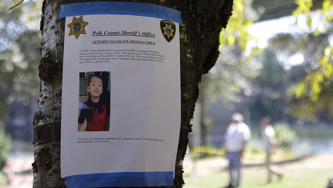 """Allen """"Chaz"""" Pearson was last seen at 5:30 p.m. Friday, August 4, 2017 playing with other children near the pedestrian bridge over the Willamette River."""