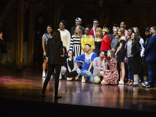 High school students performing scenes from the musical