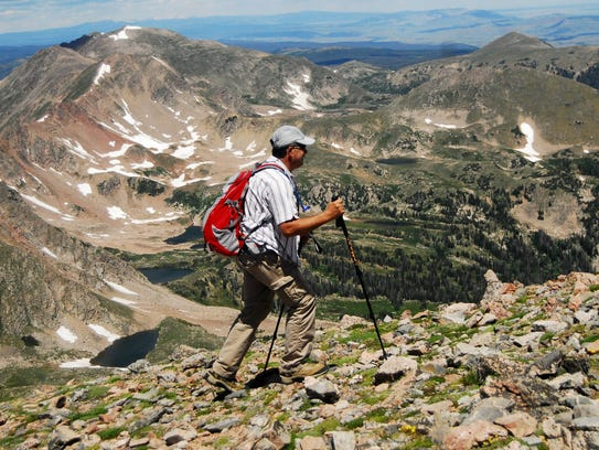 A group of hikers joined Xplore reporter Stephen Meyers