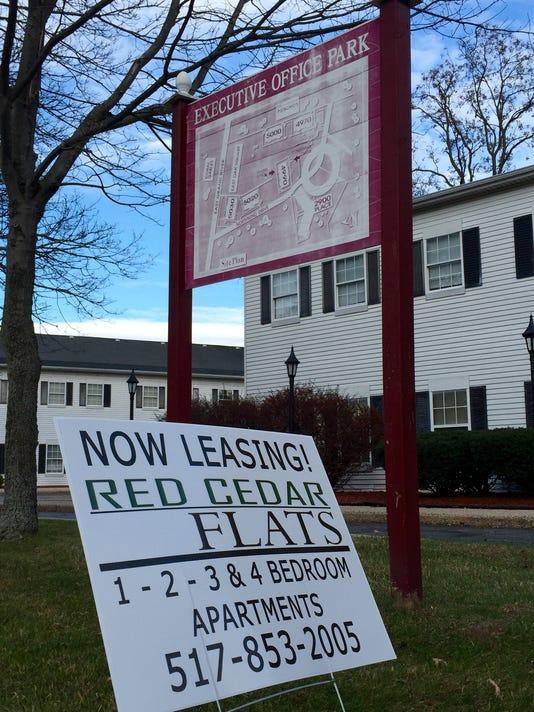 Red Cedar Flats lease sign