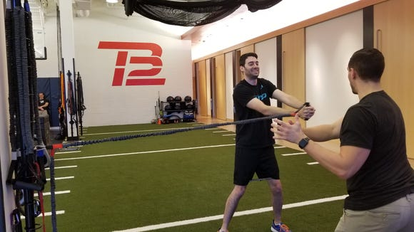 I worked out like Tom Brady at the TB12 Center