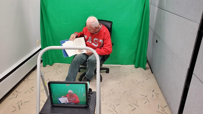 Jack Olson during the production virtual reading buddy videos.