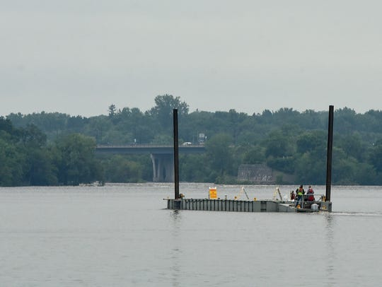 The barge for the St. Cloud Area Fireworks Display
