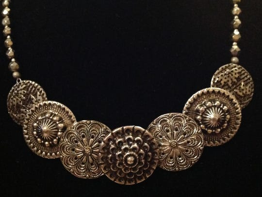 Necklace by Mary Beth Mead, who is taking part in the Door County Wearable Art Show at Sister Bay Village Hall.