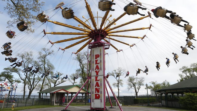 A ride at Playland Park in Rye.