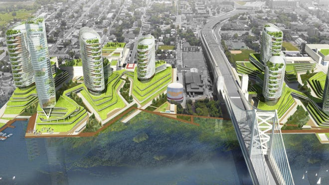 Camden County on Thursday proposed a site on Camden's Waterfront as a site for Amazon's planned second headquarters.