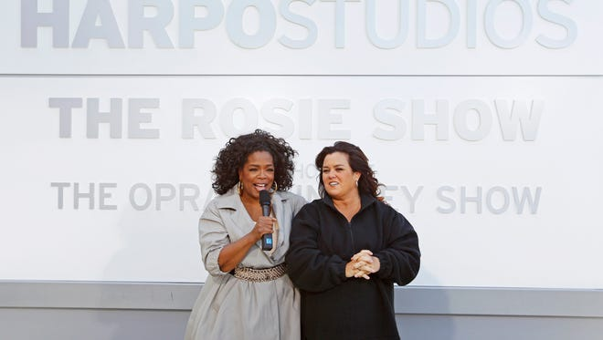 Rosie and Oprah unveiled a new sign in 2011.