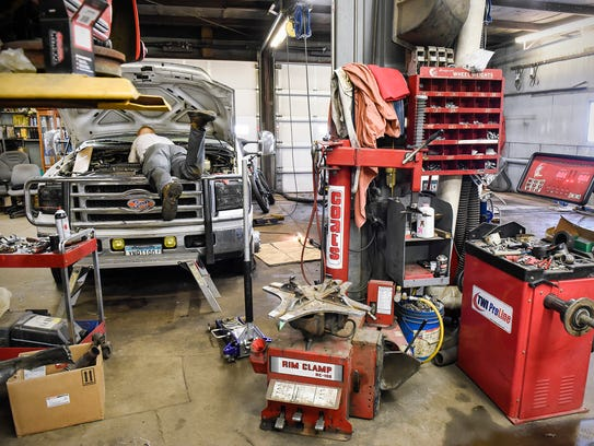 Mechanics keep busy Tuesday, Feb. 20, at Glen's Precision