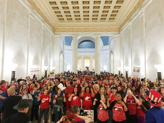 AP WEST VIRGINIA TEACHERS WALKOUT A USA WV