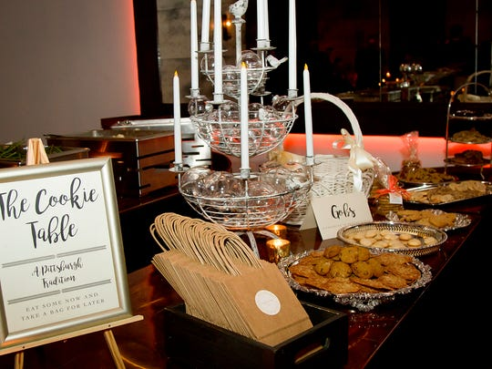 The reception featured a cookie table, a Western Pennsylvania tradition.
