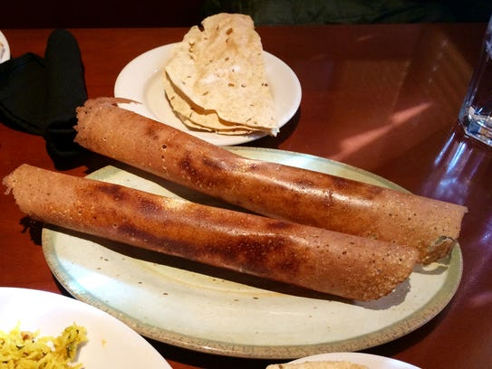 Mysore Palace: Potato curry-filled dosas, complimentary
