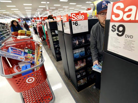 Paul Poirier shops for sales at Target on Black Friday,