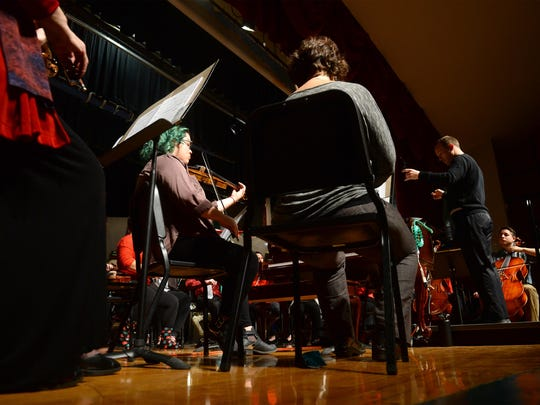 Steven Olson's 55-person orchestra performs its second concert Saturday.
