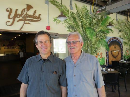 Yolanda's Mexican Cafe co-founder Rod Gietzen, right,