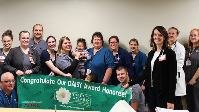 Andrea Rich, RN, a nurse in the emergency department at McLaren Greater Lansing, was honored this month with the DAISY Award for Extraordinary Nurses.