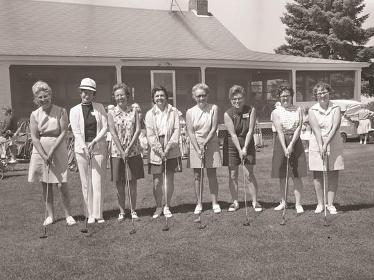 A group of Champlain Country Club ladies in the 1970s.
