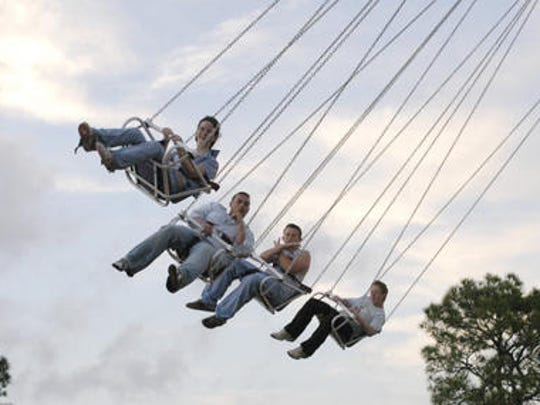 The Lehigh Spring Festival includes carnival rides and daily performances.