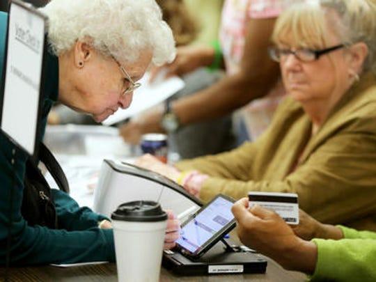 Voters cast ballots in St. Bernard last November.