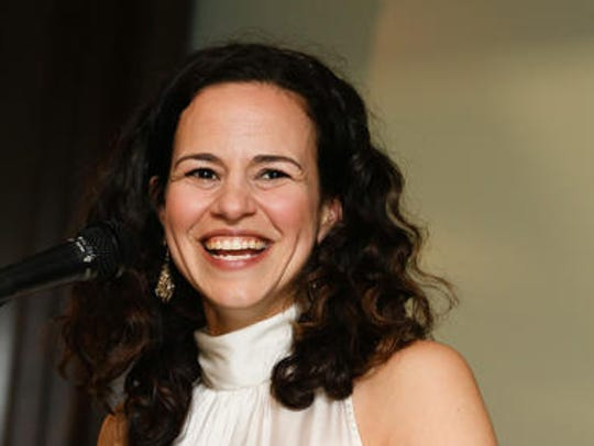 Broadway star Mandy Gonzalez spoke at the Rutgers University