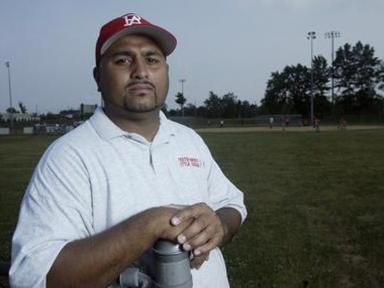 Ken Ortiz during his time as Perth Amboy Little League Director in 2005.