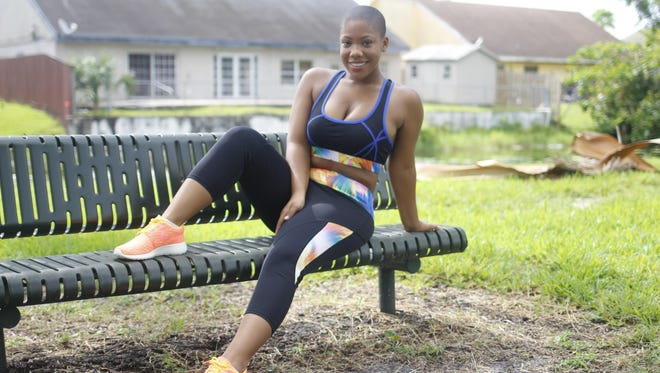 Taylor Campbell, a graduate of Florida A&M University, models part of her 825 Active clothing line.