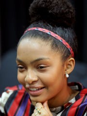 """Yara Shahidi, 16, is a teen star, who best known for her role as Zoey on the television  hit series """"Black-ish.""""  She sits down to talk to the Detroit Free Press prior to giving a speech during the closing ceremonies of the Thousand Points of Light conference at Cobo Center in Detroit Wednesday, June 29, 2016.Regina H. Boone/Detroit Free Press"""