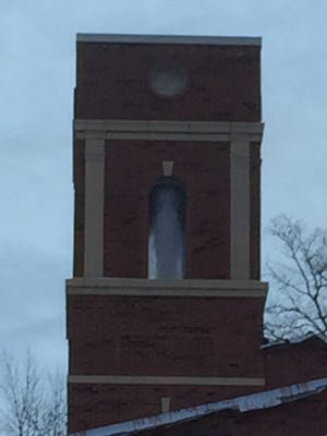 A snowy apparition that some say looked like the Virgin Mary was seen in the newly constructed tower at St. Mary's Springs Academy in Fond du Lac on Jan. 19
