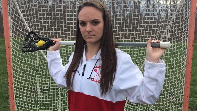 Rancocas Valley's Avery Sweeney is the best defensive player coach Sara Shelley has had in her 10-year career with the Red Devils.
