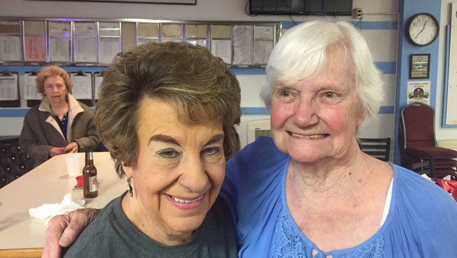 Mary Orham (left) and Shirley Christianson of Great Falls won their respective divisions at the Montana USBC State Seniors' Tournament in Ronan reently.