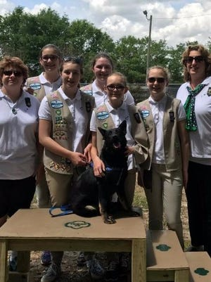 Troop 25 of the Girl Scouts of the Florida Panhandle is lead by Kelly Bowling and Karin A. Garvin and consists of six Girl Scout Cadettes: Sydney Dodson, 13; Alyssa Pascoe, 14; Nadia Palag, 14; Lonni Moorer, 13; Taylor Murphy 14 and Sarah King, 14 (not pictured).