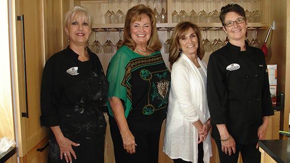 Sue Shattuck, Vonda Scoates, Rishy Studer and Betsy LeGalla.