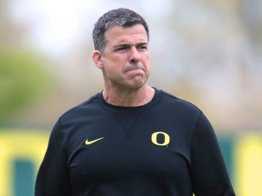 NCAA Football: Oregon Spring Practice