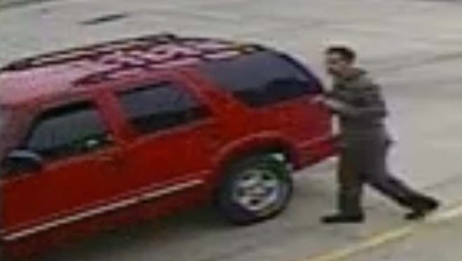 Police say this man stole a red 2000 Chevrolet Blazer from the Sunoco gas station on Grand River Avenue around 6:30 a.m. July 18.