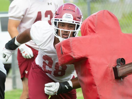Shane Jackson is one of nine returning starters to the New Mexico State defense this season. For more fall camp coverage, click on this story at lcsun-news.com.