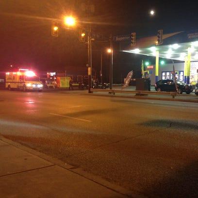 Gas station shooting.