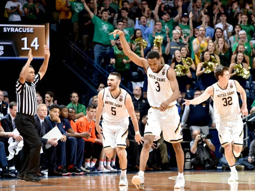 Jan 21, 2017; South Bend, IN, USA; Notre Dame Fighting