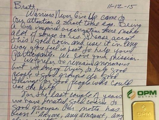 Warriors letter