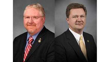 Sen. Jay Wasson,R-Nixa, left, and Sen. Bob Dixon, R-Spingfield.