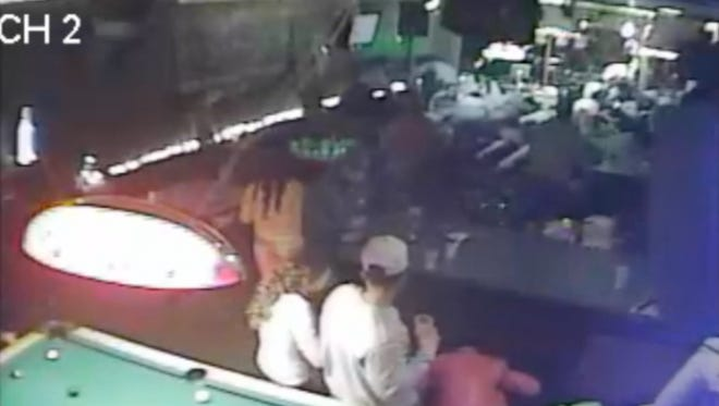 A screengrab of surveillance footage from the Gates Pub.