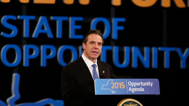 New York Gov. Andrew Cuomo delivers his State of the State address on Jan. 21.