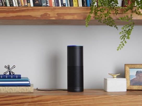 The Amazon Echo.