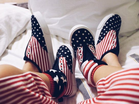 Children's shoes for 4th of July
