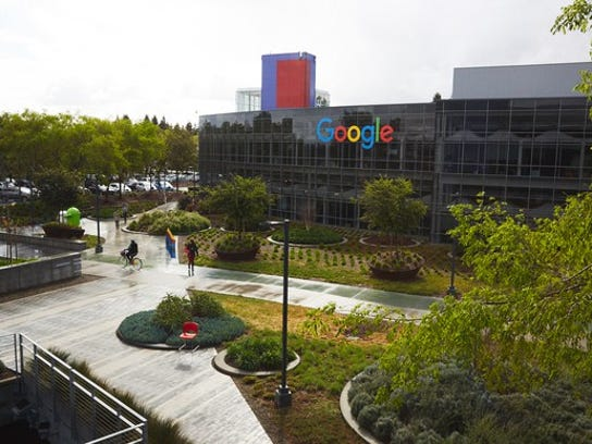 A photo of the Googleplex 4 building on Google's campus