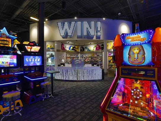 The Million Dollar Arcade inside a Dave & Buster's.