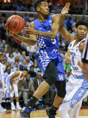 Malik Monk looks for an outlet pass in the first half.Marcch 26, 2017