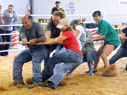 The Tug of War Competition is scheduled for July 8 at the 2016 Marion County Fair. The human struggle begins at 2:30 p.m. in Evers Arena. For information about the fair, visit www.marioncountyfairgrounds.com.