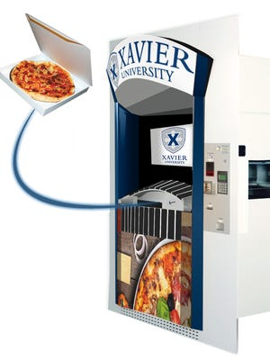 Xavier University has the country's first Pizza ATM. It serves up a fresh pie in minutes any time of the day.