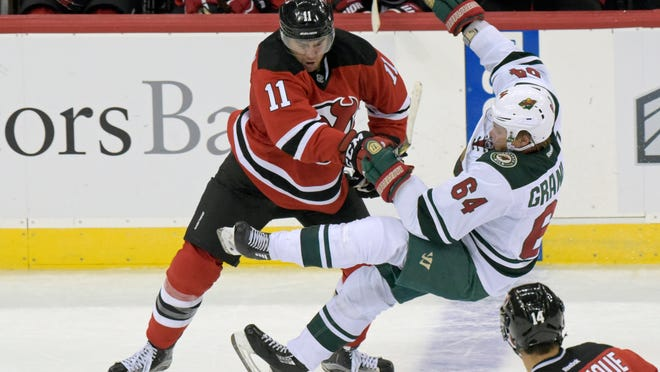 Devils right wing P.A. Parenteau (AP Photo/Bill Kostroun)