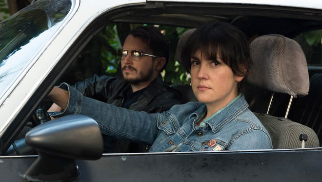 Tony (Elijah Wood, left) and Ruth (Melanie Lynskey) are an unlikely crime-solving duo in 'I Don't Feel at Home in This World Anymore.'